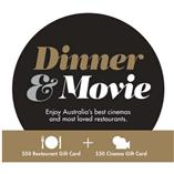 $100 Dinner & Movie Gift Card (VIC, TAS)